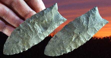 Cast of a Clovis point from the Gault site in Texas.