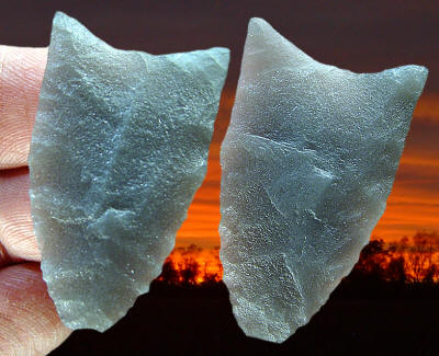 Cast of a fluted point from Franklin Co., Vermont--Ramah
