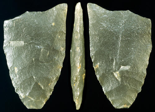 Fluted point from Franklin Co., Vermont---Ramah chert