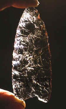Quartz Crystal Clovis And Hopewell Points
