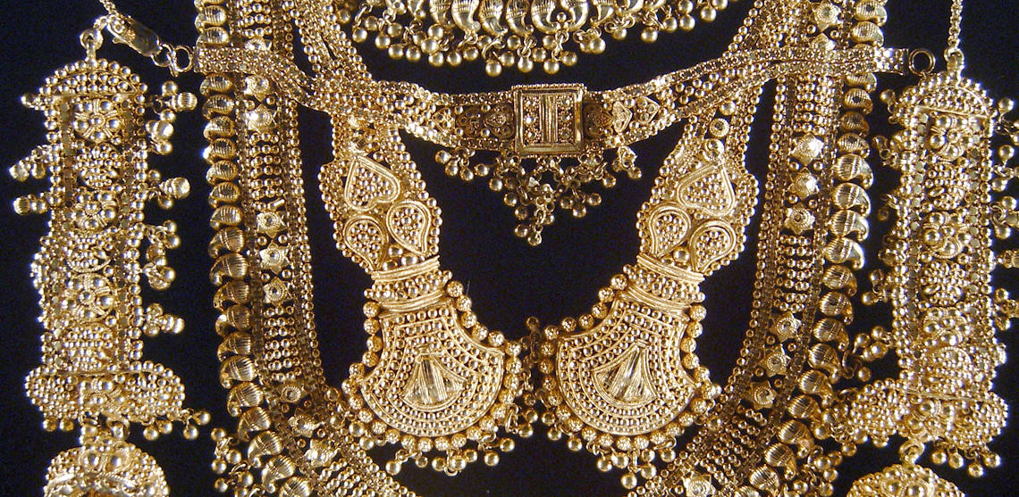 Gold jewelry from India