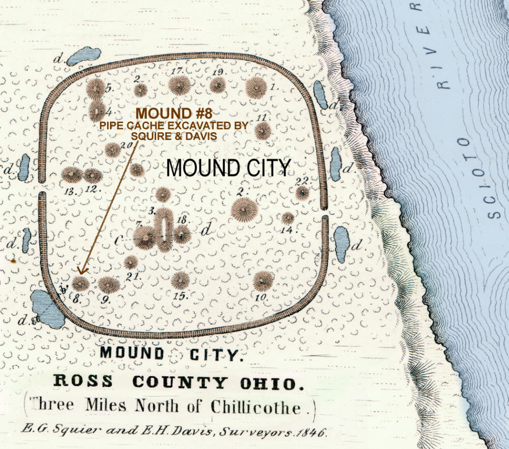 Map Of The Mound City Hopewell Site Ross Co Ohio