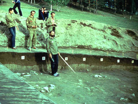Excavations on the Tolbaga site in eastern Siberia.