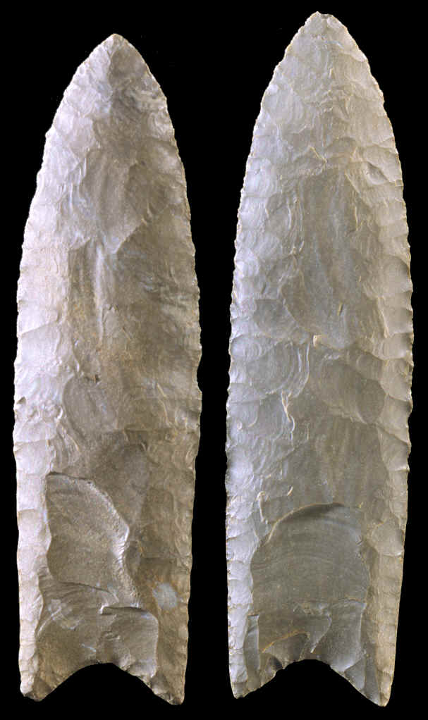 Two Clovis points from Alabama.