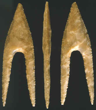 Hollow Base projectile point from Egypt.