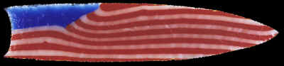 American flag glass point made by Lyal Moen.