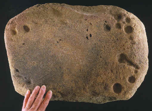 Large axe grinding stone from Illinois.