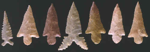 Arrow points found in Craig Mound.