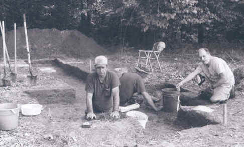 Excavation of the Phil Stratton site, 2003.